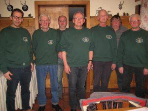 Der Vorstand und die Revisoren (von links) Marco Schneider, Friedhelm Damer, Thomas Heintel, Norbert Zimmermann, Klaus Pierre Minnert, Herbert Dillemuth und Otmar Jöckel.