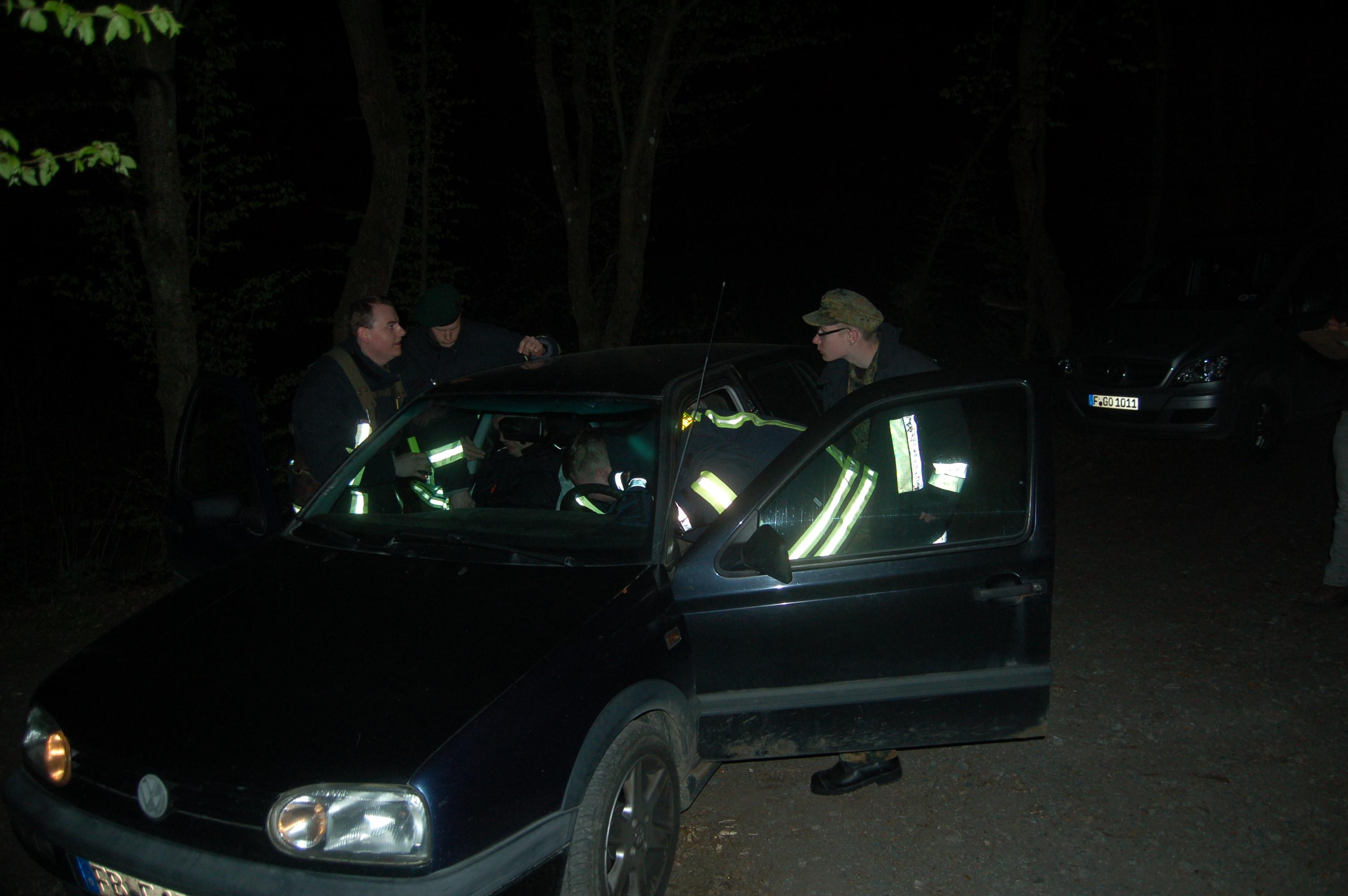 Die Mannschaft der Feuerwehr Hunds