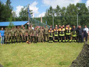 Reservisten und Feuerwehr sind zur gemeinsamen Übung angetreten