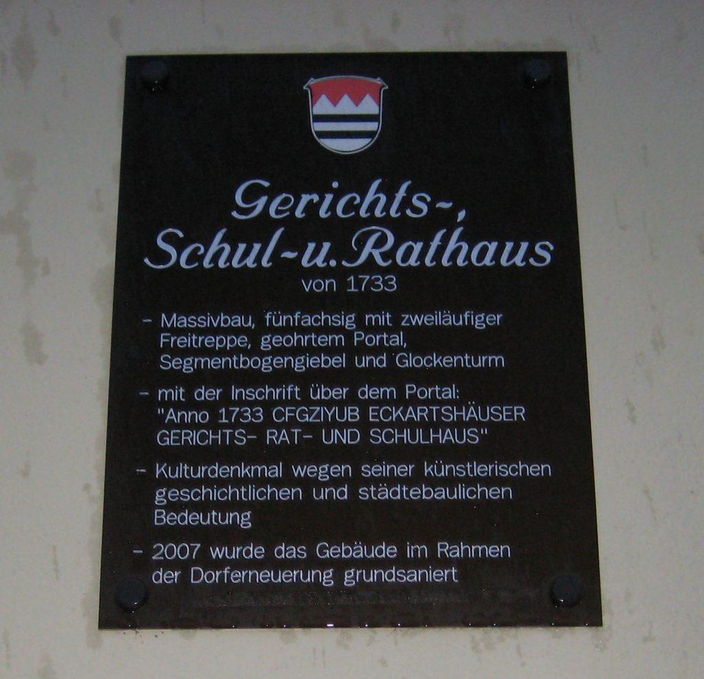 Die Beschreibung des Hauses.