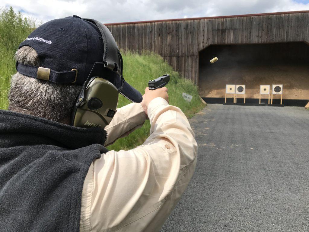 Auch Pistolen-Disziplinen wurden geschossen